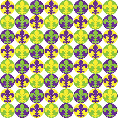 Fleur de Lis-Mardi-Gras fabric by writefullysew on Spoonflower - custom fabric