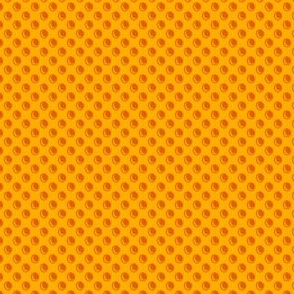 Orange Grate Dots
