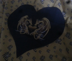 DOUBLE DRAGON HEART PILLOWS