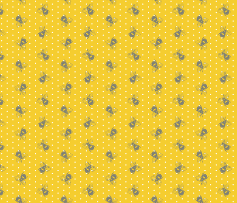 bumblebee_polka01 fabric by spaldilocks on Spoonflower - custom fabric
