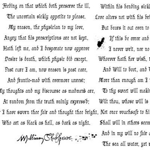 Shakespearean Sonnets White