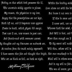 Shakespearean Sonnets Black Alt.