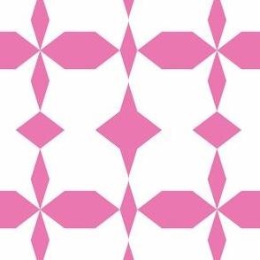 decagon pink - white