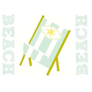 My Beach Chair Star- Sea Glass Stripes