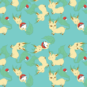 Leafeon All (turquoise) By Holly E