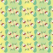 Leafeon Roll (Green Yellow wave) By Holly E