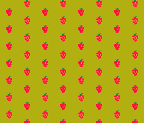 strawberries fabric by laurenmholton on Spoonflower - custom fabric