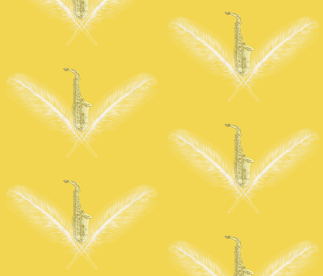 Goldie Sax fabric by smile-peace-love-creative on Spoonflower - custom fabric