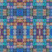 Patchwork Batik mirrored