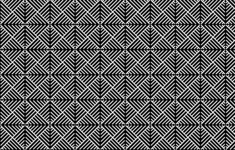 Black_n_White.  fabric by art_on_fabric on Spoonflower - custom fabric
