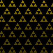 Triforce Black & Gold Sacred Geometry