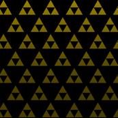 Triforce Black & Gold Sacred Geometry