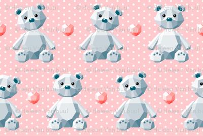 crystal bears on pink