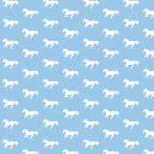 White Pony on Light Blue