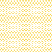 golden yellow and white quatrefoil