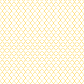 yellow and white quatrefoil