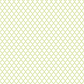 lime green and white quatrefoil