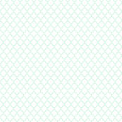 quatrefoil ice mint green