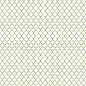 olive green and white quatrefoil