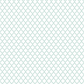 faded teal and white quatrefoil