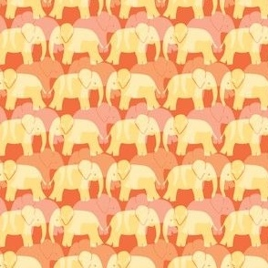 Cute Elephant Pattern - Orange