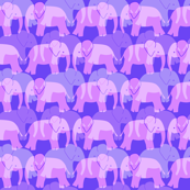 Cute Elephant Pattern - Purple