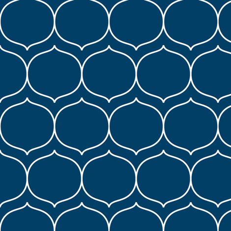 sugarplum navy blue and white fabric by misstiina on Spoonflower - custom fabric
