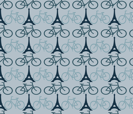 BICYCLES IN PARIS fabric by bluevelvet on Spoonflower - custom fabric