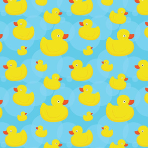 Rubber duck fabric wallpaper amp gift wrap spoonflower