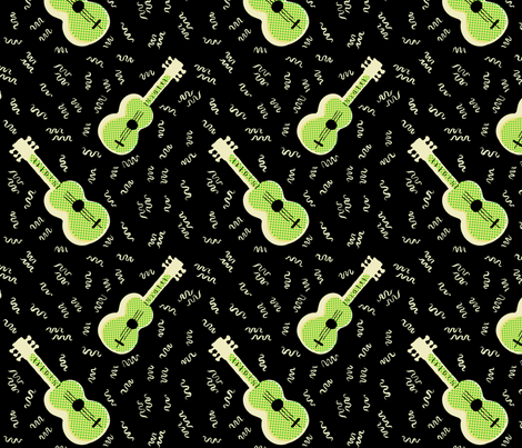 Jazz Guitar | Retro Style fabric by imaginaryanimal on Spoonflower - custom fabric