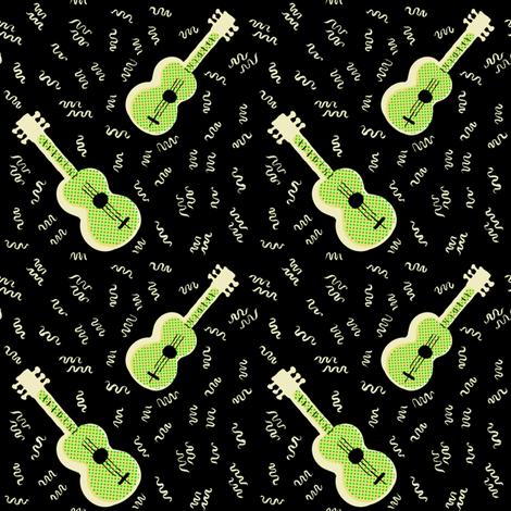 Jazz Guitar | Retro Style fabric by imaginaryanimal on Spoonflower - custom fabric