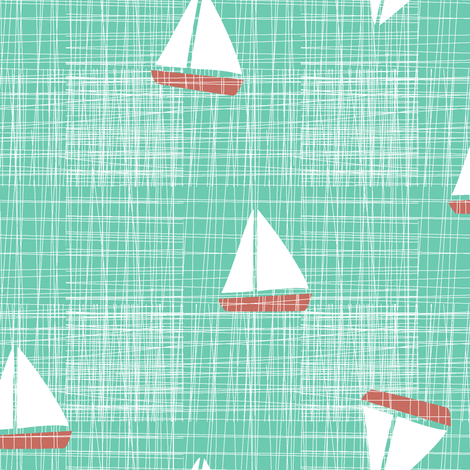 Sail Away fabric by lbishop on Spoonflower - custom fabric