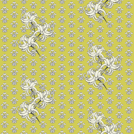 Swirly flowers fabric by carrie_narducci on Spoonflower - custom fabric