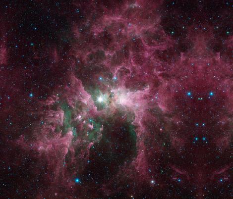 Clouds of Eta Carinae fabric by teknotoy on Spoonflower - custom fabric