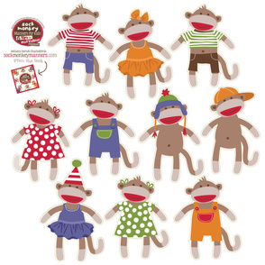Sock Monkey Decals