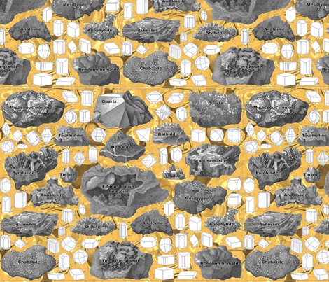 rocks2 fabric by craftyscientists on Spoonflower - custom fabric