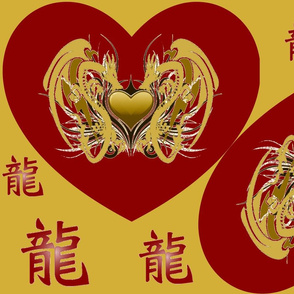 RED DRAGON HEART PILLOWS