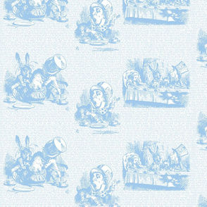 Alice Vintage Text Toile Blue/White (small)