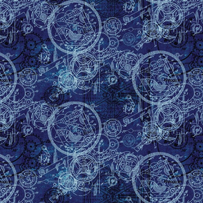 Clockwork Collage Blue