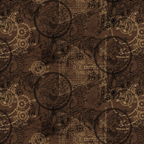 Clockwork Collage Brown