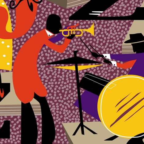 jazz club fabric by zapi on Spoonflower - custom fabric