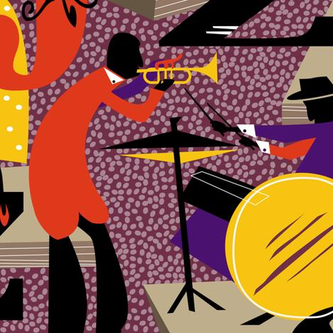 jazz club fabric by zapi on Spoonflower - custom fabric