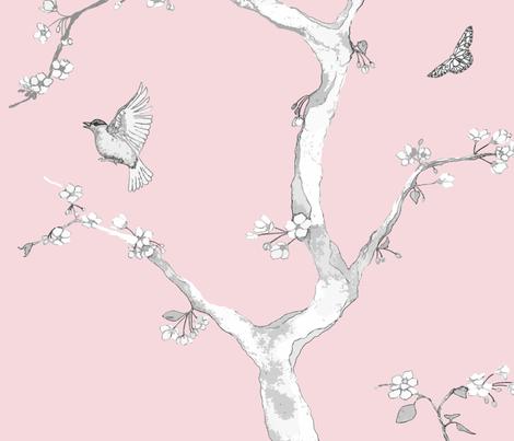 Jenny Modern kumquat on nude fabric by domesticate on Spoonflower - custom fabric