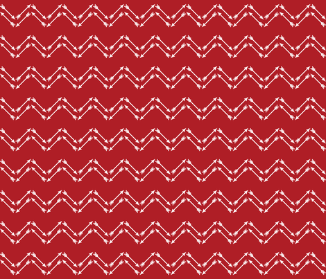 Cupid Arrow Chevron Pattern
