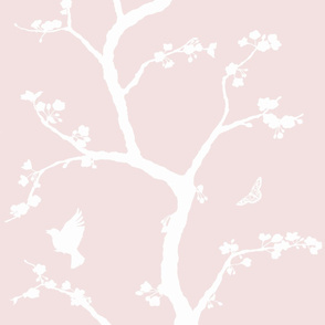 Jenny Simple cherry blossoms on powder
