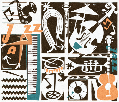 Scratchy Jazz fabric by chicca_besso on Spoonflower - custom fabric