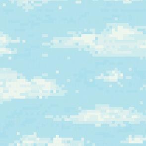 Pixel art sky