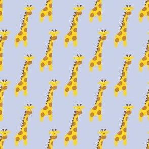 Giraffes on blue