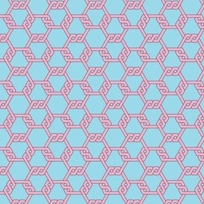 Pastel Red-Blue Freeman Lattice