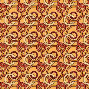 Linked Geometric in Warm Colors